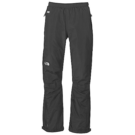 Free Shipping. The North Face Men's Resolve Pant DECENT FEATURES of The North Face Men's Resolve Pant Waterproof, breathable, seam sealed Elastic waist Two secure-zip hand pockets Ankle zip gusset Velcro adjustable ankle tabs The SPECS Average Weight: 12.7 oz / 360 g Inseam: short: 29in., regular: 31in., long: 33in. Body: 70D 105 g/m2 (3.1 oz/yd2) nylon ripstop HyVent 2L Lining: Mesh knit This product can only be shipped within the United States. Please don't hate us. - $69.95