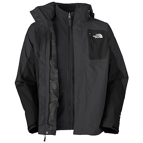 On Sale. Free Shipping. The North Face Men's Atlas Triclimate Jacket DECENT FEATURES of The North Face Men's Atlas Triclimate Jacket Waterproof, breathable, seam sealed Zip-in compatible integration with complementing garments from The North Face Fully adjustable, removable hood Napoleon chest pocket Brushed chin guard lining Center front storm flap with zip and Velcro closure Pit-zip vents Two secure zip hand pockets Internal chest pocket Velcro adjustable cuffs Hem cinch-cord Center front storm flap with zip and Velcro closure (Triclimate) 200 g fleece Two secure zip hand pockets Three-in-one jacket delivers protection against variable weather Standard fit Imported The SPECS Average Weight: 46.5 oz / 1318 g Center Back Length: 30in. Body: 70D 160 g/m2 (4.7 oz/yd2) 100% faille weave nylon Hyvent 2L Triclimate Insulation: 200 weight fleece This product can only be shipped within the United States. Please don't hate us. - $167.99