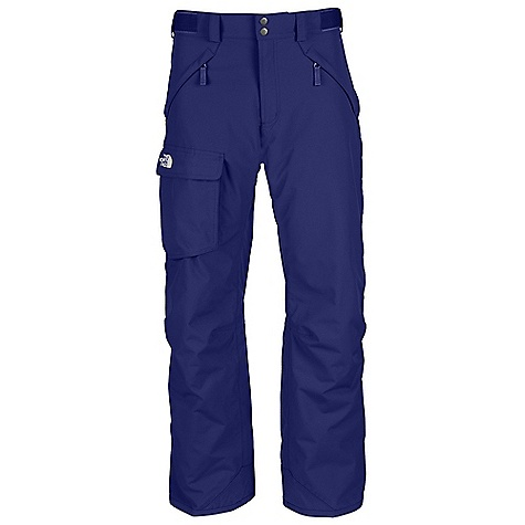 On Sale. Free Shipping. The North Face Men's Freedom Insulated Pant DECENT FEATURES of The North Face Men's Freedom Insulated Pant Free-fit pant with highly efficient insulation Waterproof, breathable, fully seam sealed Adjustable waist tabs Handwarmer zip pockets Exterior thigh vents with mesh gussets Flap cargo pocket StretchVent gaiter with gripper elastic Chimney Venting system Reinforced cuff Articulated knees Pant-a-lock compatible Buddy lift clip The SPECS Average Weight: 28.92 oz / 820 g Inseam: short: 29in., regular: 31in., long: 33in. Shell: 210D x 235D 189 g/m2 HyVent 2L foxfaille-100% nylon faille Lining: Embossed taffeta Insulation: 60 g Heatseeker Eco This product can only be shipped within the United States. Please don't hate us. - $99.99