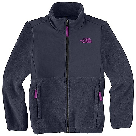 On Sale. Free Shipping. The North Face Girls' Denali Jacket DECENT FEATURES of The North Face Girls' Denali Jacket Zip-in and snap-in compatible Abrasion-reinforced shoulders, chest and elbows Zip hand pockets Elastic binding at cuffs Encased elastic at hem ID label Embroidered logo at left chest and back right shoulder The SPECS Average Weight: 16 oz / 453 g Center Back Length: 22.5in. Body: 330 g/m2 Recycled Polartec 300 Series polyester fleece with DWR finish Abrasion: 70D x 160D 118 g/m2 100% nylon Taslan with DWR finish This product can only be shipped within the United States. Please don't hate us. - $58.99