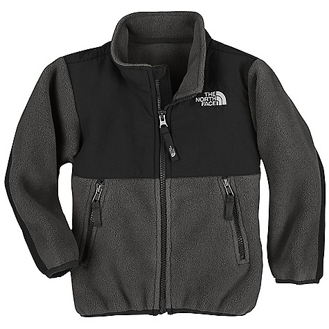 On Sale. Free Shipping. The North Face Toddler Boys' Denali Jacket DECENT FEATURES of The North Face Toddler Boys' Denali Jacket Abrasionreinforced shoulders, chest and elbows Zip hand pockets Elastic binding at cuffs Encased elastic at hem ID label Embroidered logo at left chest and back right shoulder The SPECS Average Weight: 9.6 oz / 272 g Center Back: 15.75in. Body: 330 g/m2 Recycled Polartec 300 Series polyester fleece with DWR finish Abrasion: 160D 118 g/m2 100% nylon Taslan with DWR finish This product can only be shipped within the United States. Please don't hate us. - $61.99