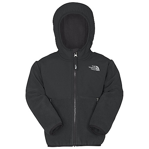 Free Shipping. The North Face Toddler Boys' Denali Hoodie DECENT FEATURES of The North Face Toddler Boys' Denali Hoodie Fixed hood Abrasion-reinforced shoulders, chest and elbows Zip hand pockets Elastic binding at cuffs Encased elastic at hem ID label Embroidered logo at left chest and back right shoulder The SPECS Average Weight: 10.4 oz / 294 g Center Back: 15.25in. Body: 330 g/m2 Recycled Polartec 300 Series polyester fleece with DWR finish Abrasion: 160D 118 g/m2 100% nylon Taslan with DWR finish This product can only be shipped within the United States. Please don't hate us. - $98.95