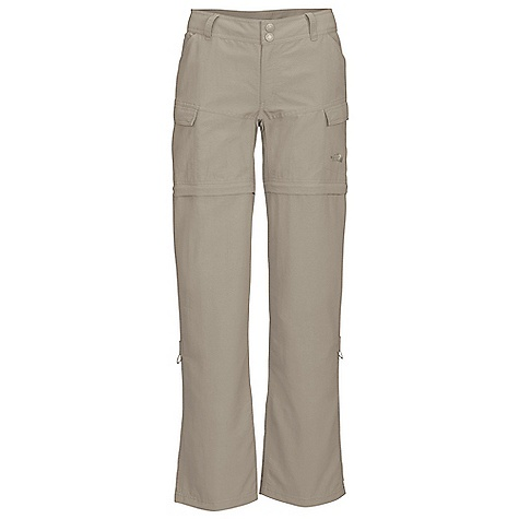 Free Shipping. The North Face Women's Paramount Valley Convertible Pant DECENT FEATURES of The North Face Women's Paramount Valley Convertible Pant Relaxed fit Durable, midweight abrasion-resistant nylon DWR finish Quick-drying Pant converts into 6in. short Constructed waist with internal drawstring Elastic on back belt loops for zip-off leg storage Two hand pockets Two flap cargo pockets Two secure Velcro rear pockets Roll-up leg feature The SPECS Average Weight: 16 oz / 440 g Inseam: short: 30in., regular: 32in., long: 34in. 70D 165 g/m2 (5.82 oz/yd2) 100% nylon faille with DWR This product can only be shipped within the United States. Please don't hate us. - $74.95