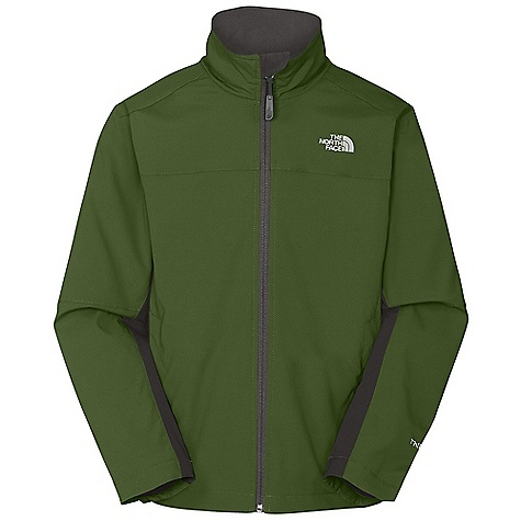 On Sale. Free Shipping. The North Face Boys' Long Distance Softshell Jacket DECENT FEATURES of The North Face Boys' Long Distance Softshell Jacket TNF Apex Aerobic fabric wind permeability rated at 10 CFM Zip hand warmer pockets Drop lining Brushed collar lining ID label Embroidered logo at left chest and back right shoulder The SPECS Average Weight: 14.67 oz / 416 g Center Back Length: 22.5in. Body: 150D 165 g/m2 TNF Apex Aerobic-90% polyester, 10% elastane four-way stretch double-weave (blue sign approved fabric) Lining: 160 g/m2 Polar Tec Classic Micro fleece-100% polyester (blue sign approved fabric) This product can only be shipped within the United States. Please don't hate us. - $63.99