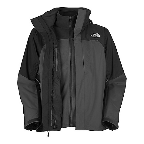 On Sale. Free Shipping. The North Face Men's WindWall Triclimate Jacket DECENT FEATURES of The North Face Men's WindWall Triclimate Jacket Standard fit Waterproof, breathable, seam sealed Fully adjustable, removable hood Brushed chin guard lining Center front stormflap with zip and Velcro closure Two hand pockets Chest pocket Pit-zip vents Internal chest pocket Molded adjustable cuff tabs Hem cinch-cord (Triclimate) WindWall fabric permeability rated at 14 CFM Two hand pockets Elastic-bound cuffs The SPECS Average Weight: 44.0 oz / 1300 g Center Back: 30in. Fabric: Body: 75D 300 g/m2 WR-100% polyester, Triclimate Insulation: WindWall fleece This product can only be shipped within the United States. Please don't hate us. - $199.99