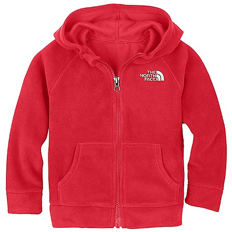 On Sale. The North Face Toddler Boys' Glacier Full Zip Hoodie DECENT FEATURES of The North Face Toddler Boys' Glacier Full Zip Hoodie Extremely durable, pill-resistant surface Lightweight warmth Contrast color center front zip Kangaroo hand warmer pockets Embroidered logo at left chest The SPECS Average Weight: 4.59 oz / 130 g Center Back Length: 15.5in. 160 g/m2 Polar Tec Classic Micro fleece-100% polyester (blue sign approved fabric) This product can only be shipped within the United States. Please don't hate us. - $27.99