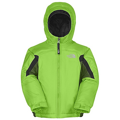 On Sale. Free Shipping. The North Face Toddler Boys' Insulated Out Of Bounds Jacket DECENT FEATURES of The North Face Toddler Boy's Insulated Out Of Bounds Jacket Waterproof, breathable, fully seam sealed Fixed hood Brushed chin guard Zip hand pockets EZ Grow cuffs at sleeves Internal loop for glove clip Adjustable cuff tabs with Velcro closure System map on interior of garment outlines jacket features ID label Embroidered logo at left chest and back right shoulder The SPECS Average Weight: 14.1 oz / 400 g Center Back Length: 16.5in. Body: 70D x 160D 82 g/m2 100% nylon faille weave HyVent 2L Lining: 40D 70 g/m2 100% nylon taffeta Insulation: 250 g Heatseeker Aero This product can only be shipped within the United States. Please don't hate us. - $63.99