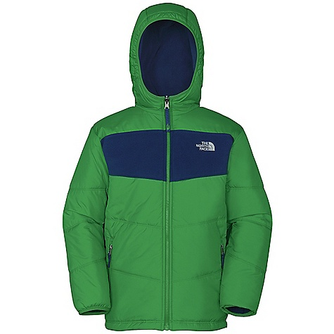 On Sale. Free Shipping. The North Face Boys Reversible True Or False Jacket DECENT FEATURES of The North Face Boys' Reversible True Or False Jacket Zippered hand pockets on quilted side Welted pockets on fleece side Elastic binding at sleeves and at fixed hood Embroidered logo at left chest Imported The SPECS Average Weight: 25.61 oz / 726 g Center Back Length: 24in. Body: 100% nylon taffeta with DWR finish 50D 76 g/m2 100% recycled polyester taffeta with DWR Reverse Body: 160 g/m2 Polartec Classic Micro fleece Insulation: 160 g Heatseeker Aero This product can only be shipped within the United States. Please don't hate us. - $69.99