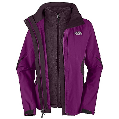 On Sale. Free Shipping. The North Face Women's Boundary Triclimate Jacket DECENT FEATURES of The North Face Women's Boundary Triclimate Jacket Waterproof, breathable, seam sealed Zip-in compatible integration with complementing garments for The North Face Fully adjustable, removable drop hood with lower face protection Brushed collar in liner Napoleon chest pocket Pit-zips Center front flap and internal storm flap Two secure zip hand pockets Self fabric cuff tabs (Triclimate) Soft Silken fleece Two secure zip hand pockets (Triclimate) Silken fleece liner, Two hand pockets, Elastic-bound cuffs Imported The SPECS Average Weight: 43.02 oz / 1225 g Center Back Length: 27in. Body: 70D 128.8 g/m2 (3.8 oz/yd2) faille weave nylon Hyvent 2L Triclimate Insulation: Silken fleece This product can only be shipped within the United States. Please don't hate us. - $167.99