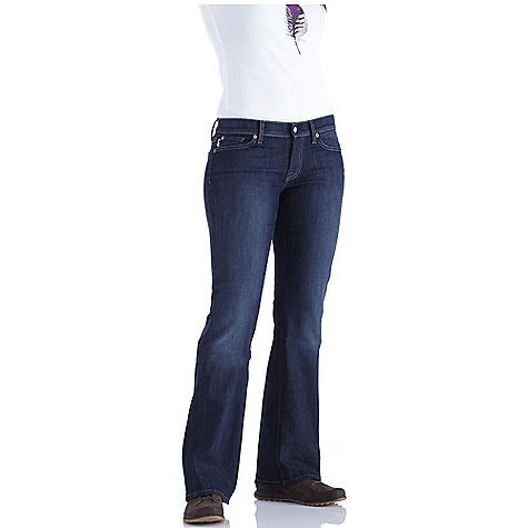 On Sale. Free Shipping. The North Face Women's TNF Jean DECENT FEATURES of The North Face Women's TNF Jean Bootcut jean Sits low on the waist and is slim through the thigh with a classic bootcut leg opening 5 pocket Clean, dark indigo wash with no whiskers or abrasions Red, contrast box stitch on wearer's back waistband TNF logo tab at coin pocket The SPECS Inseam: large: 34in. Fabric: 10 oz, 98% cotton, 2% elastane denim This product can only be shipped within the United States. Please don't hate us. - $37.99
