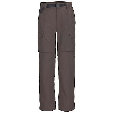 Free Shipping. The North Face Men's Paramount Valley Convertible Pant DECENT FEATURES of The North Face Men's Paramount Valley Convertible Pant Durable, midweight abrasion-resistant nylon DWR finish Partial elastic waist with belt loops, zip-fly and belt included Pant legs zip off to an 8in. short Color-coded convertible leg zips Large capacity cargo pockets at side Roomy rear pocket for extra capacity Relaxed fit The SPECS Average Weight: 18 oz / 520 g Inseam: short: 30in., regular: 32in., long: 34in. 70D 165 g/m2 (5.82 oz/yd2) 100% nylon woven (bluesign approved fabric) This product can only be shipped within the United States. Please don't hate us. - $74.95