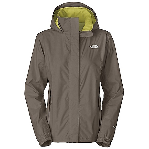 The North Face Women's Resolve Jacket is a waterproof jacket for staying dry in wet weather. Hike the weekends and work during the week. Better yet, hike the week and skip work. Don't tell your boss I said that. With the waterproof/breathable protection of Dryvent 2L fabric, you'll stay happy outdoors, even when the rain is coming down. The hood is attached, but stows into the collar when you need a more refined look around town. The front zipper Features a flap to block wind and leaks at your front, so you can walk with purpose along the trails. Features of The North Face Women's Resolve Jacket Waterproof, breathable, seam sealed Mesh lined Attached adjustable hood stows in collar Brushed chin guard improves comfort when you're all zipped up Center front zip and Velcro closure Two secure-zip hand pockets Hem cinch-cord - $62.99