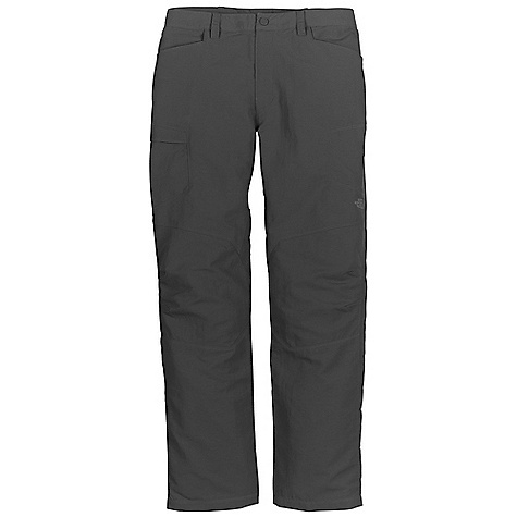 On Sale. Free Shipping. The North Face Men's Paramount Traverse Pant DECENT FEATURES of The North Face Men's Paramount Traverse Pant Durable, midweight abrasion-resistant nylon DWR finish Crotch gusset Secure-zip pocket Articulation at knees Relaxed fit The SPECS Average Weight: 14 oz / 400 g Inseam: short: 30in., regular: 32in., long: 34in. 70D 165 g/m2 (5.82 oz/yd2) 100% nylon woven This product can only be shipped within the United States. Please don't hate us. - $51.96