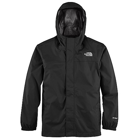 Free Shipping. The North Face Boys' Zipline Rain Jacket DECENT FEATURES of The North Face Boys' Zipline Rain Jacket Waterproof, breathable, fully seam sealed Fixed hood Mesh-lined body Brushed collar lining Center front zip and Velcro closure Elasticized cuffs Chin guard flap ID label Embroidered logo at left chest and back right shoulder The SPECS Average Weight: 8.5 oz / 240 g Center Back Length: 22.5in. Body: 70D 82 g/m2 100% nylon plain weave HyVent 2L (bluesign approved fabric) Lining: 50D 50 g/m2 100% polyester small-hole mesh This product can only be shipped within the United States. Please don't hate us. - $54.95