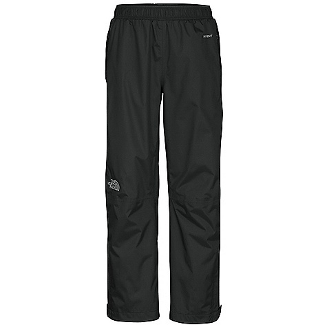 Free Shipping. The North Face Boys' Resolve Pant DECENT FEATURES of The North Face Boys' Resolve Pant Waterproof, breathable, fully seam sealed Mesh-lined Elasticized waist with internal drawstrings Zippered hand pockets Velcro adjustable ankle closure with zippered opening Quarter-length side zippers Imported The SPECS Average Weight: 10 oz / 270 g Inseam: 24.5in. Body: 70D 106 g/m2 HyVent 2L-100% nylon ripstop Lining: 50D 50 g/m2 100% polyester small-hole mesh This product can only be shipped within the United States. Please don't hate us. - $54.95