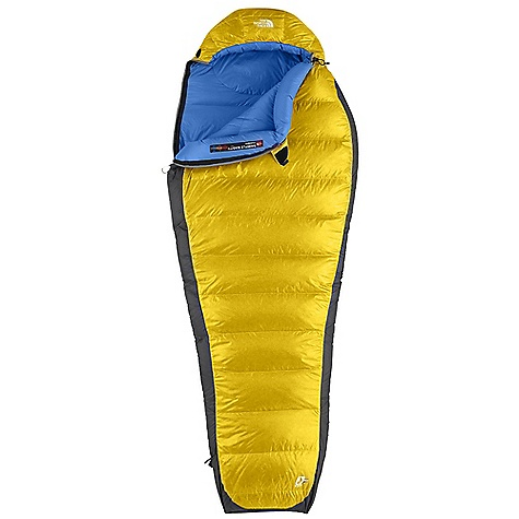 Camp and Hike Free Shipping. The North Face Gold Kazoo 30 Degree Sleeping Bag DECENT FEATURES of The North Face Gold Kazoo 30 Degree Sleeping Bag 650+ fill goose down Buttery soft fabrics Inspired fit and function Lightweight compression stuffsack Glow-in-the-dark pull-loop on zipper Internal draft tube pockets keep essentials warm and within reach The SPECS Temperature Rating: 30deg F / -1deg C Comfort: 36deg F / 2deg C Limit: 25deg F / -4deg C Extreme: -6deg F / -21deg C Stuffsack Size: 6 x 17in. / 14.5 x 43 cm Fill: 650+ Down Shape: Mummy The SPECS for Regular Total Weight: 2 lbs / 894 g Fill Weight: 13 oz / 380 g Compressed Size: 365 cubic inches / 6 liter The SPECS for Long Total Weight: 2 lbs 2 oz / 951 g Fill Weight: 14 oz / 402 g Compressed Size: 405 cubic inches / 6.6 liter This product can only be shipped within the United States. Please don't hate us. - $228.95