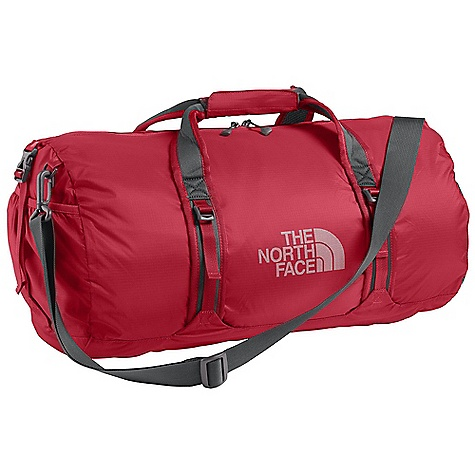 Entertainment Free Shipping. The North Face Flyweight Duffel DECENT FEATURES of The North Face Flyweight Duffel Compressible design that allows the pack to be stuffed into an interior pocket Large main compartment with zippered top closure Exterior end pockets Pull-wing compression Adjustable, removable shoulder strap Carry handles with Velcro closure The SPECS 70D PU-coated nylon ripstop The SPECS for Medium Average Weight: 14 oz / 395 g Volume: 1895 cubic inches / 31 liter Dimension: 20 x 11 x 11in. / 51 x 28 x 28 cm The SPECS for Large Average Weight: 1 lb / 440 g Volume: 2745 cubic inches / 45 liter Dimension: 22 x 12.5 x 12.5in. / 56 x 32 x 32 cm This product can only be shipped within the United States. Please don't hate us. - $59.95