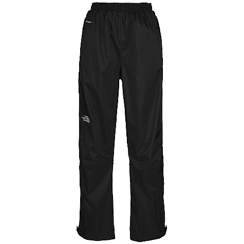 Free Shipping. The North Face Women's Resolve Pant DECENT FEATURES of The North Face Women's Resolve Pant Waterproof, breathable, seam sealed Elastic waist Two secure-zip hand pockets Ankle zip gusset Velcro adjustable ankle tabs The SPECS Average Weight: 11.99 oz / 340 g Inseam: 31.5in. Body: 70D 105 g/m2 (3.1 oz/yd2) nylon ripstop HyVent 2L Lining: mesh knit This product can only be shipped within the United States. Please don't hate us. - $69.95