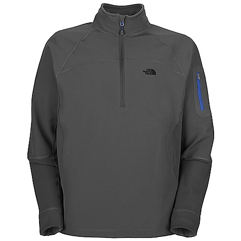 On Sale. Free Shipping. The North Face Men's Sabretooth 1-2 Zip DECENT FEATURES of The North Face Men's Sabretooth 1/2 Zip Bonded soft shell with improved, softer backing Ultraviolet Protection Factor (UPF) 50 Improved wind permeability rating of 17 CFM DWR finish Stretch panels at underarms and cuff for mobility Underarm gusset for improved mobility Elbow articulation Arm pocket with pop color zip Pop color on back of fabric Media pocket The SPECS Average Weight: 16.93 oz / 480 g Center Back Length: 27.5in. Body: 75D 290 g/m2 (10.23 oz/yd2) 98% polyester, 2% elastane fleece Stretch Panel: 220 g/m2 (7.76 oz/yd2) 97% polyester, 3% elastane TKA Super stretch This product can only be shipped within the United States. Please don't hate us. - $55.99