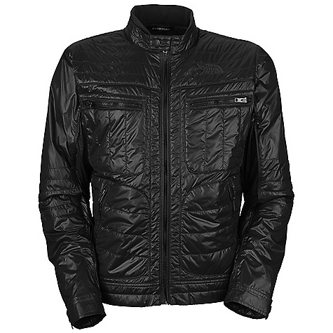 On Sale. Free Shipping. The North Face Men's Moto Jacket DECENT FEATURES of The North Face Men's Moto Jacket Quilted body Rib at collar Two zippered chest pockets Two zippered hand pockets Snap-down collar and adjustable cuffs Tonal logo embroidery at left chest The SPECS Average Weight: 20.9 oz / 594 g Center Back Length: 26in. Body: 33D 46 g/m2 100% nylon taffeta with DWR Insulation: 80 g Heatseeker Eco This product can only be shipped within the United States. Please don't hate us. - $103.99