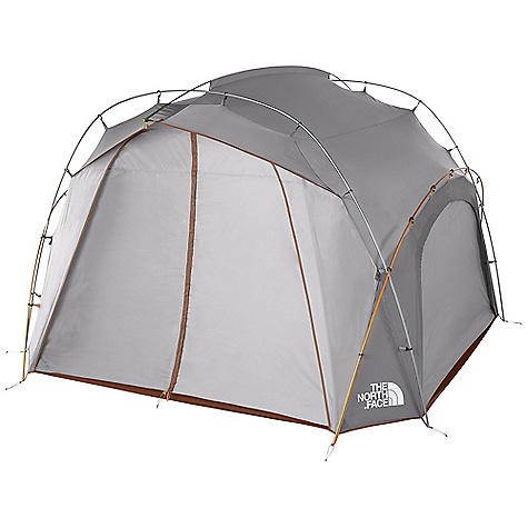 Camp and Hike Free Shipping. The North Face Docking Station - 6 Person Tent DECENT FEATURES of The North Face Docking Station - 6 Person Tent Full-coverage, roll-up walls Perimeter floor for ease of pitch External fusion pitch with Twist Clip Comprehensive color-coded pitch Duffel-style storage sack Durable steel stake Read reviews and test reports at Perimeter floor for ease of pitch External Fusion pitch with twist-clip The SPECS Capacity: 6 Person Total Weight: 17 lbs 2 oz / 7.76 kg Trail Weight: 16 lbs 9 oz / 7.12 kg Footprint Weight: 1 lb 10 oz / 0.74 kg Floor Area: 97 square feet / 9 square meter Peak Height: 81in. Stuff Sack Size: 29 x 12in. / 74 x 30 cm Number of Poles: 5 Pole Diameter: 14.5 x 13 x 12 mm Doors: 4 Fly: Durable polyester taffeta, 1200 mm PU coating, water-resistant finish Floor: Durable nylon taffeta, 3000 mm PU coating, waterresistant finish OVERSIZE ITEM: We cannot ship this product by any expedited shipping method (3-Day, 2-Day or Next Day). Even if you pick that option, it will still go Ground Shipping. Sorry for being so mean. This product can only be shipped within the United States. Please don't hate us. - $448.95