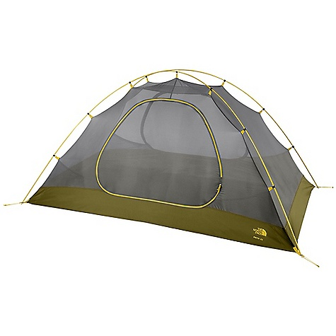 Camp and Hike Free Shipping. The North Face Rock 32 Bx - 3 Person Tent DECENT FEATURES of The North Face Rock 32 Bx - 3 Person Tent Lightweight, easy-to-use clip system Comprehensive color-coded pitch Double door with two large vestibules Fully taped, nylon bucket floor Convenient overhead pockets Abundant gear loops Innovative built-in gear loft Durable steel stakes Loft included The SPECS Capacity: 3 Person Average Weight: 12.5 oz / 354 g Total Weight: 6 lbs 6 oz / 2.90 kg Trail Weight: 5 lbs 13 oz / 2.63 kg Fastpack Weight: 4 lbs 4 oz / 1.94 kg Footprint Weight: 12 oz / 0.34 kg Floor Area: 43.3 square feet / 3.9 square meter Vestibules: 2 Vestibules Area: front: 9.3 square feet / 0.9 square meter, rear: 9.3 square feet / 0.9 square meter Peak Height: 45in. Stuffsack Size: 24 x 8in. / 61 x 20 cm Number of Poles: 3 Pole Diameter: 9 mm Doors: 2 Fly: Durable polyester taffeta, 1500 mm PU coating, water-resistant finish Canopy: Polyester in.No-See-Umin. mesh Floor: Durable nylon taffeta, 5000 mm PU coating, water-resistant finish OVERSIZE ITEM: We cannot ship this product by any expedited shipping method (3-Day, 2-Day or Next Day). Even if you pick that option, it will still go Ground Shipping. Sorry for being so mean. This product can only be shipped within the United States. Please don't hate us. - $228.95