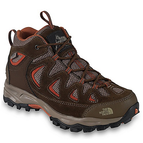 Camp and Hike Free Shipping. The North Face Boys' Vindicator Waterproof Shoe DECENT FEATURES of The North Face Boys' Vindicator Waterproof Shoe Upper: Hydro Seal waterproof membrane Split suede leather upper Abrasion-resistant and breathable textile mesh Gusseted tongue provides protection from unwanted debris Protective toe cap and heel mudguards Bottom: Injection-molded EVA midsole UltrATAC rubber outsole The SPECS Last: Y\TNF-005A Approx Weight: 1/2 pair: 9.9 oz / 281 g, pair: 1 lb 4 oz / 562 g This product can only be shipped within the United States. Please don't hate us. - $65.00