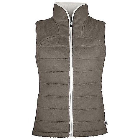 Free Shipping. The North Face Women's Mossbud Insulated Vest DECENT FEATURES of The North Face Women's Mossbud Insulated Vest Super soft and cozy, high loft moss bud fleece with quilting pattern Prim aloft Eco provides recycled, high loft performance insulation Dries quickly to minimize heat loss Reversible garment reverses out to a contrast color taffeta, except TNF Black, and Metallic Silver, which are DTM Bound neck and armholes Secure snap pockets on reverse side The SPECS Average Weight: 19.1 oz / 544 g Center Back Length: 25.75in. Body: Silken fleece Insulation: 60 g PrimaLoft Eco This product can only be shipped within the United States. Please don't hate us. - $95.00