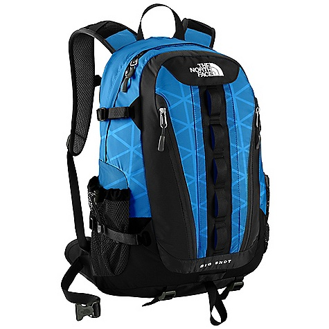 Camp and Hike On Sale. Free Shipping. The North Face Big Shot Backpack DECENT FEATURES of The North Face Big Shot Backpack FlexVent injection molded shoulder straps with additional PE foam for added comfort Comfortable, padded Airmesh back panel with Spine Channel and PE sheet for extra back support Padded, winged, stowable hipbelt BackSaver bottom panel Large main compartment with padded laptop sleeve, organization and hydration clip/port Front vertical stash pockets with water resistant zippers Mesh side water bottle pockets Imported The SPECS Average Weight: 2 lbs 12 oz / 1250 g Volume: 2015 cubic inches / 33 liter Dimension: 21.5 x 13 x 8in. / 55 x 34 x 20 cm 420D nylon, 1680D ballistics nylon, 600D polyester print This product can only be shipped within the United States. Please don't hate us. - $86.99