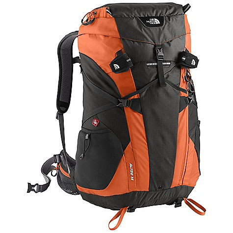 Camp and Hike Free Shipping. The North Face Alteo 35 Pack DECENT FEATURES of The North Face Alteo 35 Pack Windtunnel back panel system assures all day comfort Smart pack body zipper system offers easy interior access and featherweight versatility Remarkably light, super tough mini ripstop pack fabric Moldedfoam lumbar, anatomical hipbelts and shoulder harness with moisture wicking Airmesh Includes fitted rain cover Abundant interior and exterior pockets optimize on the go efficiency The SPECS Average Weight: 3 lbs / 1360 g Volume: 2150 cubic inches / 35 liter Dimension: 23 x 13.5 x 8in. / 70 x 35 x 20 cm Suspension: Windtunnel Stays: Single Tubular Aluminum Frame Sheet: Yes Access: Top, Front H20 Conpatible: Yes 210D HT ripstop Cordura nylon This product can only be shipped within the United States. Please don't hate us. - $169.00