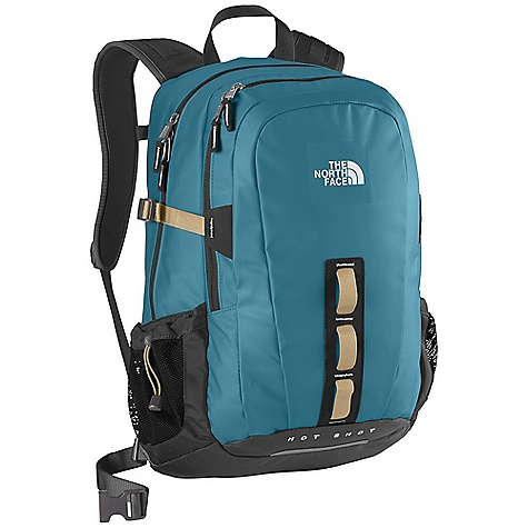 Camp and Hike On Sale. Free Shipping. The North Face Base Camp Hot Shot Pack DECENT FEATURES of The North Face Base Camp Hot Shot Pack Padded Airmesh back panel Flex Vent injection-molded shoulder straps Comfortable, padded Chemise back panel with Spine Channel and PE sheet for extra back support Back Saver bottom panel Large main compartment with padded laptop sleeve and hydration clip/port Secondary compartment with organization Mesh side water bottle pockets Dual side water bottle pockets Durable, water-resistant zippers The SPECS Average Weight: 2 lbs 9 oz / 1160 g Volume: 1830 cubic inches / 30 liter Dimension: 20.5 x 13 x 8in. / 52 x 33 x 20 cm Phthalate-free TPE laminate, 1680D ballistics nylon This product can only be shipped within the United States. Please don't hate us. - $75.99