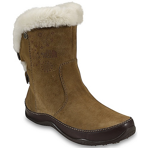 On Sale. Free Shipping. The North Face Women's Abby Chukka Boot DECENT FEATURES of The North Face Women's Abby Chukka Boot Upper: Waterproof, BLC-compliant velvet suede and full-grain leather upper 200 g PrimaLoft Eco insulation Plush shearling lining Waterproof pull-on construction for easy on/off Bottom: Northotic, compression-molded, dual-density internal midsole with three-quarter-length nylon shank Durable TNF Winter Grip rubber outsole with IcePick temperature-sensitive snowflake lugs The SPECS Approx Weight: 1/2 Pair: 11.8 oz / 335 g, Pair: 1 lb 8 oz / 670 g Last: L/TNF-025 This product can only be shipped within the United States. Please don't hate us. - $86.99