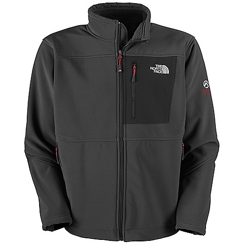 On Sale. Free Shipping. The North Face Men's Apex Summit Thermal Jacket DECENT FEATURES of The North Face Men's Apex Summit Thermal Jacket Polartec Windbloc soft shell wind permeability rated at 0 CFM Patch-on chest pocket with Napoleon zip Two hand pockets TNF Apex Aerobic pieced in at cuff tabs for stretch and comfort Hem cinch-cord The SPECS Average Weight: 26.40 oz / 748.43 g Center Back Length: 27.5in. Face: 376 g/m2 (11.1 oz/yd2 ) 84% polyester, 16% elastane Polartec Windbloc Back: 100% polyester plain weave high loft backed Polartec Windbloc This product can only be shipped within the United States. Please don't hate us. - $183.99