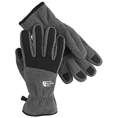 On Sale. The North Face Men's Denali Glove DECENT FEATURES of The North Face Men's Denali Glove 5 Dimensional Fit Radiametric Articulation Nylon Taslan over knuckles and fingers Elastic wrists seal out the cold Versatile for multipurpose sport activities Imported The SPECS Shell: 300 weight fleece with nylon Taslan overlay Palm: PU gripper This product can only be shipped within the United States. Please don't hate us. - $16.99