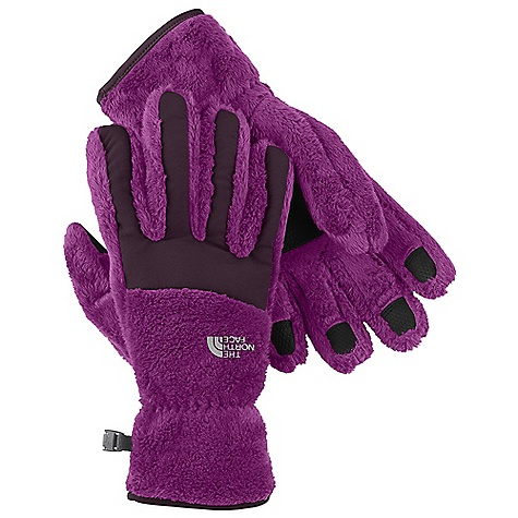 On Sale. The North Face Women's Denali Thermal Glove DECENT FEATURES of The North Face Women's Denali Thermal Glove Women-specific 5 Dimensional Fit ensures consistent sizing Radiametric Articulation keeps hands in their natural relaxed position Nylon Taslan over knuckles and fingers for added durability Synthetic gripper palm for added grip Elastic wrists seal out the cold The SPECS Shell: 100% polyester high-loft fleece with nylon Taslan overlay Palm: Polyurethane (PU) gripper This product can only be shipped within the United States. Please don't hate us. - $27.99