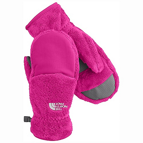 On Sale. The North Face Girl's Denali Thermal Mitt DECENT FEATURES of The North Face Girls' Denali Thermal Mitt Youth-specific 5 Dimensional Fit ensures consistent sizing Radiametric Articulation keeps hands in their natural relaxed position Nylon Taslan over knuckles and fingers for added durability Synthetic gripper palm for added grip Elastic wrists seal out the cold The SPECS Shell: 100% polyester high-loft fleece with nylon Taslan overlay Palm: Polyurethane (PU) gripper This product can only be shipped within the United States. Please don't hate us. - $19.99