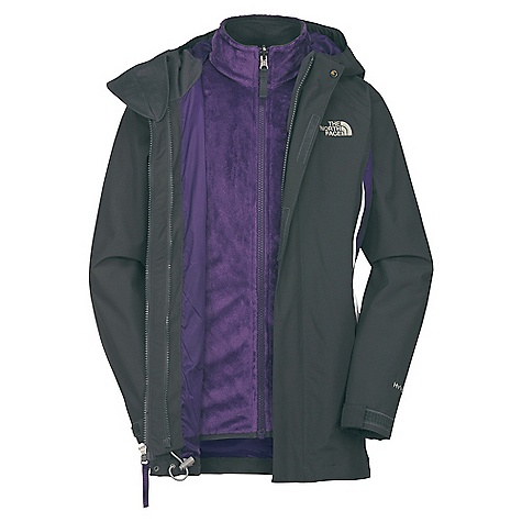 On Sale. Free Shipping. The North Face Girls' Athenia Triclimate Jacket DECENT FEATURES of The North Face Girls' Athenia Triclimate Jacket Waterproof, breathable, fully seam sealed Fixed hood Zip-in compatible Zippered hand pockets Internal security pocket Key clip Adjustable drawcord system at hem Adjustable cuff tabs with Velcro closure ID label Liner jacket: Two hand warmer pockets The SPECS Body: Hyvent 2L - 100% polyester Liner jacket: Mossbud fleece - 100% polyester This product can only be shipped within the United States. Please don't hate us. - $109.99