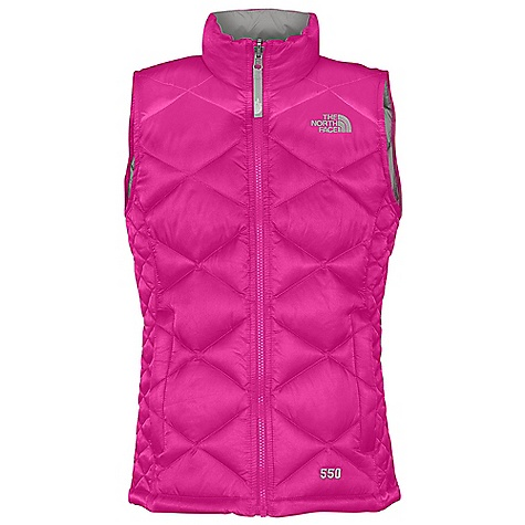 On Sale. Free Shipping. The North Face Girls' Aconcagua Vest DECENT FEATURES of The North Face Girls' Aconcagua Vest Sewn-through construction Zip-in and snap-in compatible Zip hand warmer pockets Brushed collar lining ID label Embroidered logo at left chest Imported The SPECS Average Weight: 11.29 oz / 320 g Center Back Length: 21.5in. Body: 50D 84 g/m2 100% nylon satin twill weave with DWR Lining: 70D 63 g/m2 100% nylon taffeta, 100% polyester taffeta Insulation: 550 fill down This product can only be shipped within the United States. Please don't hate us. - $63.96
