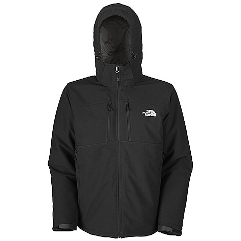 On Sale. Free Shipping. The North Face Men's Apex Elevation Jacket DECENT FEATURES of The North Face Men's Apex Elevation Jacket TNF Apex Universal fabric wind permeability rated at 10 CFM Fully adjustable insulated, removable drop hood Two Napoleon chest pockets Two secure-zip hand pockets Non-abrasive molded cuff tabs Hem cinch-cord The SPECS Average Weight: 34.92 oz / 990 g Center Back Length: 29in. Shell: 75D 226 g/m2 (6.6 oz/yd2) 100% polyester TNF Apex Universal with four-way-stretch with DWR Insulation: 40 g PrimaLoft Eco This product can only be shipped within the United States. Please don't hate us. - $148.99