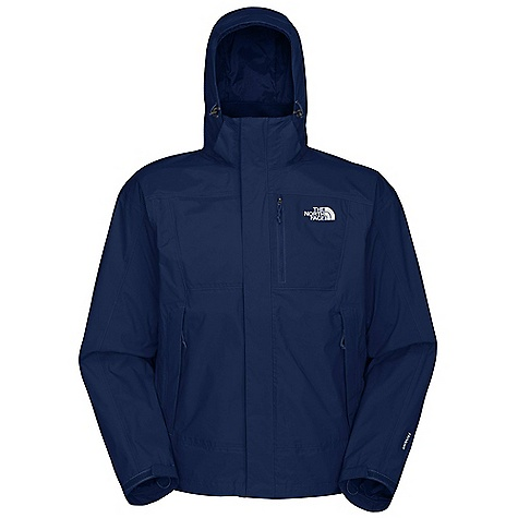 On Sale. Free Shipping. The North Face Men's Varius Guide Jacket DECENT FEATURES of The North Face Men's Varius Guide Jacket Waterproof, breathable, seam sealed Zip-in-compatible integration with complementing garments from The North Face Fully adjustable removable hood with lower face protection Brushed collar lining for comfort Napoleon chest pocket Center front zip and Velcro stormflap closure Internal security pocket Pit-zip vents Two secure-zip hand pockets Adjustable snap windskirt Self fabric adjustable cuff tabs Hem cinch-cord The SPECS Average Weight: 25.75 oz / 730 g Center Back Length: 29in. Body: 70D 113 g/m2 (3.33 oz/yd2) 100% nylon ripstop HyVent 2L Abrasion and Stretch Fabric: 70D 133 g/m2 (3.9 oz/yd2) 100% nylon plain weave HyVent 2L with mechanical stretch This product can only be shipped within the United States. Please don't hate us. - $128.99