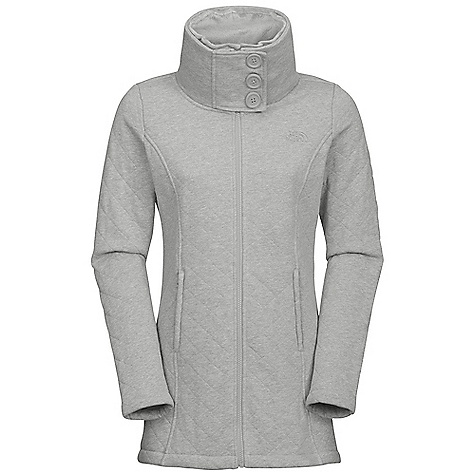 Free Shipping. The North Face Women's Caroluna Jacket DECENT FEATURES of The North Face Women's Caroluna Jacket Soft, comfortable, easy-care fabric Raschel fleece lining throughout body and hood Standing collar with snap closure Elastic shaping at back On-seam zip hand pockets Embroidered logo at left chest and back right shoulder The SPECS Average Weight: 32 oz / 907 g Center Back Length: 29in. Body: 280 g/m2 80% cotton, 20% polyester fleece Lining: 285 g/m2 100% polyester raschel fleece This product can only be shipped within the United States. Please don't hate us. - $119.95