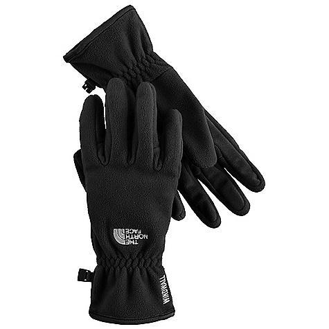 On Sale. The North Face Women's Windwall Glove DECENT FEATURES of The North Face Women's Windwall Glove 5 Dimensional Fit Radiametric Articulation WindWall fabric air permeability rated at 20 CFM Reinforced palms and fingers The SPECS Shell: WindWall fleece Palm: PU gripper This product can only be shipped within the United States. Please don't hate us. - $23.99