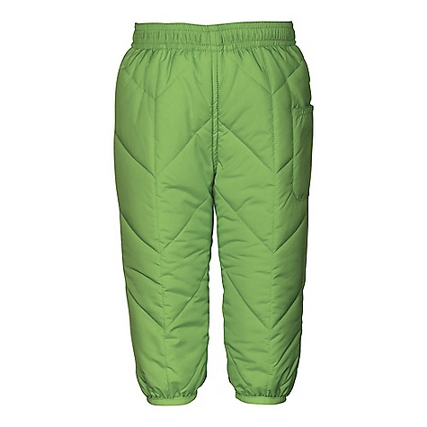 On Sale. The North Face Infant Reversible Perrito Pant DECENT FEATURES of The North Face Infant Reversible Perrito Pant Reverses to printed body Pocket at left leg Elastic at hem Binding at cuffs Quilted through body Encased elastic waistband Patch pocket Embroidered logo at back right hip Imported The SPECS Average Weight: 4.59 oz / 130 g Inseam: 9.75in. Body: 50D 76 g/m2 100% recycled polyester taffeta with DWR finish Reverse Body: 50D 80 g/m2 100% polyester taffeta with print and DWR Insulation: 120 g Heatseeker Aero This product can only be shipped within the United States. Please don't hate us. - $21.99