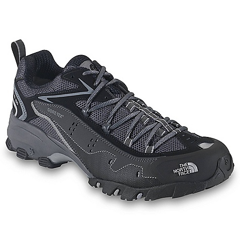 Free Shipping. The North Face Men's Ultra 106 GTX XCR Shoe DECENT FEATURES of The North Face Men's Ultra 106 GTX XCR Shoe Upper: Gore-Tex Extended Comfort Range waterproof, breathable membrane PU-coated leather upper overlays Protective, molded-rubber toe cap EVA Northotic foot bed Bottom: Torque Control (motion control) engineered platform Lightweight, dual-density, compression-molded EVA midsole with X-2 Semi-straight lasted with medial posting through first metatarsal head for maximum overpronation support Innovative ESS forefoot Snake Plate UltrATAC outsole Imported The SPECS Last: TNF-T04 Approx Weight: 1/2 pair: 15.4 oz / 434 g, pair: 1 lb 15 oz / 868 g This product can only be shipped within the United States. Please don't hate us. - $119.95
