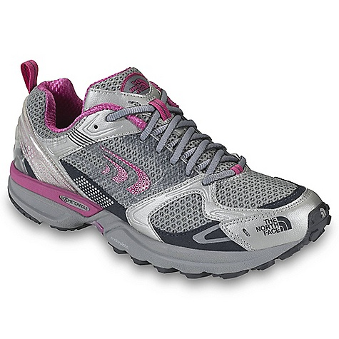 On Sale. Free Shipping. The North Face Women's Double-Track Shoe DECENT FEATURES of The North Face Women's Double-Track Shoe Upper: External molded heel counter Dual-density OrthoLite Northotic foot bed Bottom: Terrain Harness (stability) engineered platform 24 mm/12 mm heel/forefoot heights X-Dome Cradle support heel-cushioning and stability system with integrated medial post TPU Snake Plate forefoot protection Tenacious Grip sticky rubber outsole protection 2011 Gear of the Year award recipient from Outside Magazine High-rebound second density forefoot EVA Imported The SPECS Last: L\TNF-028 Approx Weight: 1/2 pair: 9.6 oz / 272 g, pair: 1 lb 3 oz / 544 g This product can only be shipped within the United States. Please don't hate us. - $76.99