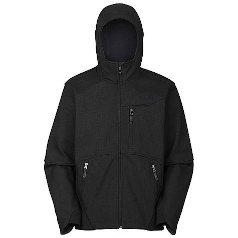 On Sale. Free Shipping. The North Face Men's Chizzler Jacket DECENT FEATURES of The North Face Men's Chizzler Jacket Windproof, water resistant, breathable Adjustable fixed hood Zip chest pocket with media exit port Zip handwarmer pockets Imported The SPECS Average Weight: 28.57 oz / 810 g Center Back Length: 27.5in. TNF Apex Universal 3L heathered twill with fleece backer Rib-knit cuff and hem This product can only be shipped within the United States. Please don't hate us. - $128.99