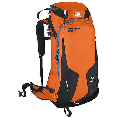 Ski On Sale. Free Shipping. The North Face Patrol 34 Pack DECENT FEATURES of The North Face Patrol 34 Pack Indestructible Bombastic auto-airbag fabric, exclusive to The North Face Simple, stable, dialed Hinch ski/board carry Huge avy tools pocket with organization sleeves and backcountry-essentials checklist Essential and improved skin/crampon pocket holds bigger skins and keeps the snow out Huge zippered side entry to main compartment Large, tricot-lined, easy-access electronics and goggles pocket Single tubular aluminum stay is removable Reinforced, high-abrasion zones on pack face The SPECS Average Weight: 3 lbs 3 oz / 1450 g Volume: 2135 cubic inches / 35 liter 315D Cordura Bombastic nylon, 840 Jr. ballistics nylon This product can only be shipped within the United States. Please don't hate us. - $126.99