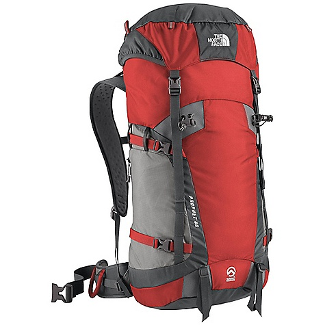 Free Shipping. The North Face Prophet 40 Pack DECENT FEATURES of The North Face Prophet 40 Pack Indestructible Bombastic auto-airbag fabric Simple, supportive, lightweight tubular stay Super Fabric-reinforced tool-attachment zones Generous new hood design with zip stash pocket Double-layered, reinforced pack bottom E-VAP foam-molded back panel and hipbelt Hypalon reinforcement wings Zippered side stash pocket The SPECS Stay: One Tubular Aluminum Frame Sheet: Yes, Perforated Access: Top (F.L.I.D.) H20 Compatible: Yes 315D Cordura Bombastic nylon 100D cargo chute nylon The SPECS for S/M Average Weight: 2 lbs 8 oz / 1130 g Volume: 2300 cubic inches / 38 liter The SPECS for M/L Average Weight: 2 lbs 10 oz / 1190 g Volume: 2550 cubic inches / 42 liter Dimension: 24 x 13 x 9in. / 60 x 33 x 22 cm OVERSIZE ITEM: We cannot ship this product by any expedited shipping method (3-Day, 2-Day or Next Day). Even if you pick that option, it will still go Ground Shipping. Sorry for being so mean. This product can only be shipped within the United States. Please don't hate us. - $178.95