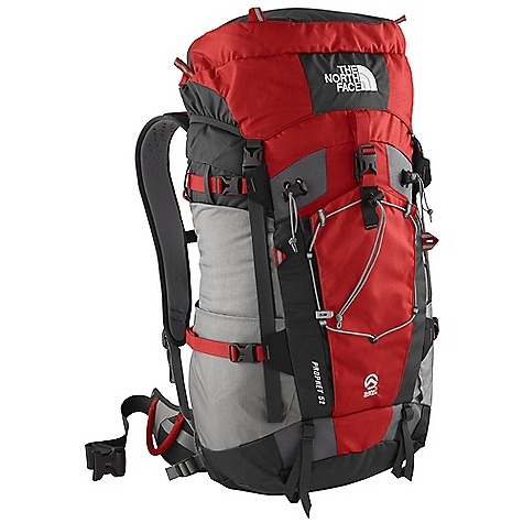 Ski On Sale. Free Shipping. The North Face Prophet 52 Pack DECENT FEATURES of The North Face Prophet 52 Pack Indestructible Bombastic auto-airbag fabric Simple, supportive, lightweight tubular V-stays SuperFabric-reinforced tool-attachment zones Large, reinforced, easy-access crampon pocket Generous new hood design with two zip stash pockets Double-layered, reinforced pack bottom E-VAP foam-molded back panel and hipbelt Hypalon reinforcement wings Reinforced, adjustable ski-carry stabilizers The SPECS Stay: Tubular Aluminum V Frame Sheet: Yes, Perforated Access: Top H20 Compatible: Yes 315D Cordura Bombastic nylon The SPECS for Small Average Weight: 3 lbs 3 oz / 1445 g Volume: 2925 cubic inches / 48 liter Extended Volume: 3250 cubic inches / 53 liter The SPECS for Medium Average Weight: 3 lbs 6 oz / 1530 g Volume: 3300 cubic inches / 54 liter Extended Volume: 3650 cubic inches / 60 liter Dimension: 23 x 13 x 10in. / 59 x 33 x 26 cm The SPECS for Large Average Weight: 3 lbs 8 oz / 1585 g Volume: 3550 cubic inches / 58 liter Extended Volume: 4000 cubic inches / 65 liter OVERSIZE ITEM: We cannot ship this product by any expedited shipping method (3-Day, 2-Day or Next Day). Even if you pick that option, it will still go Ground Shipping. Sorry for being so mean. This product can only be shipped within the United States. Please don't hate us. - $167.16