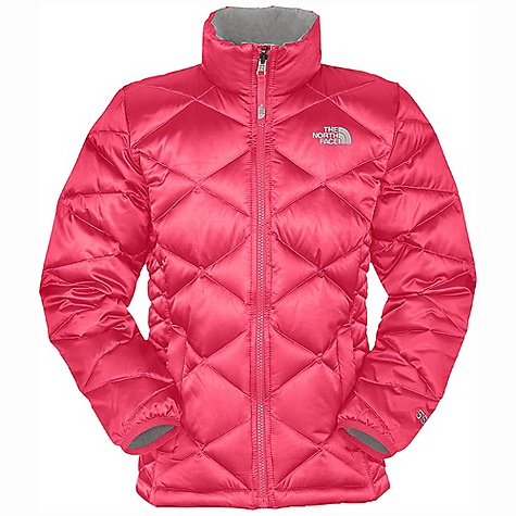 On Sale. Free Shipping. The North Face Girls' Aconcagua Jacket DECENT FEATURES of The North Face Girls' Aconcagua Jacket Sewn-through construction Zip-in and snap-in compatible Zip hand pockets Brushed collar lining ID label Embroidered logo at left chest and back right shoulder The SPECS Average Weight: 14.7 oz / 418 g Center Back Length: 21.5in. Body: 50D 84 g/m2 100% nylon satin twill weave with DWR Lining: 50D 76 g/m2 100% recycled polyester taffeta Insulation: 550 fill down This product can only be shipped within the United States. Please don't hate us. - $68.99